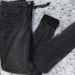 Dark gray/black brand new jeans